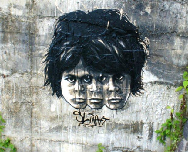 Street Art Graffiti in Bali Indonesien - Padang Padang