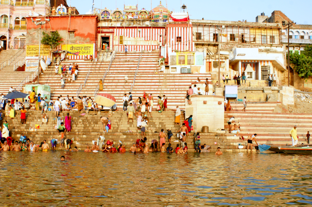 Wandbild, Poster Indien, Gipyhearts, Varanasi,