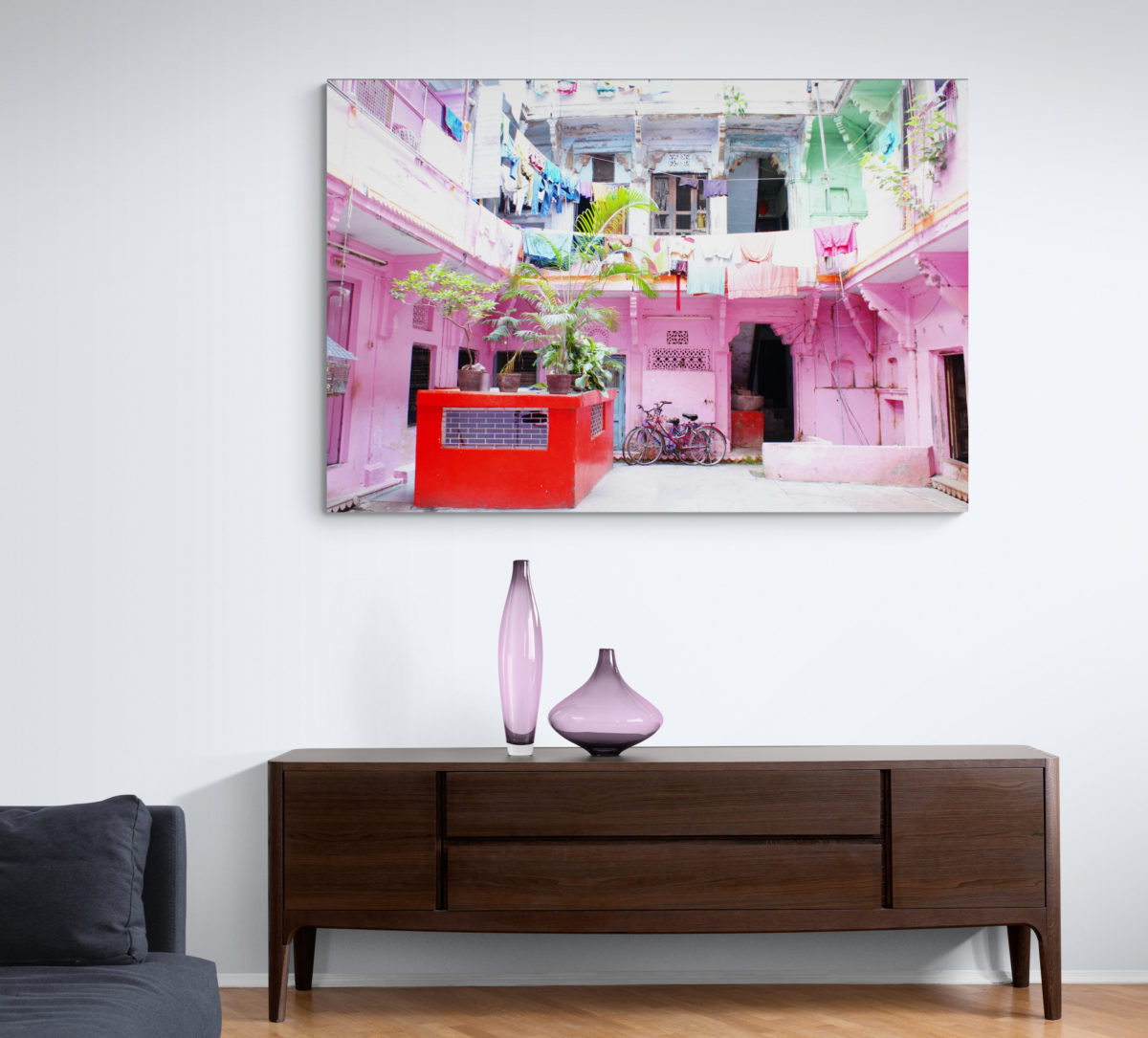 Colors of Home – Wandbild Indien